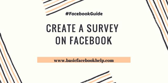 Create a survey on Facebook