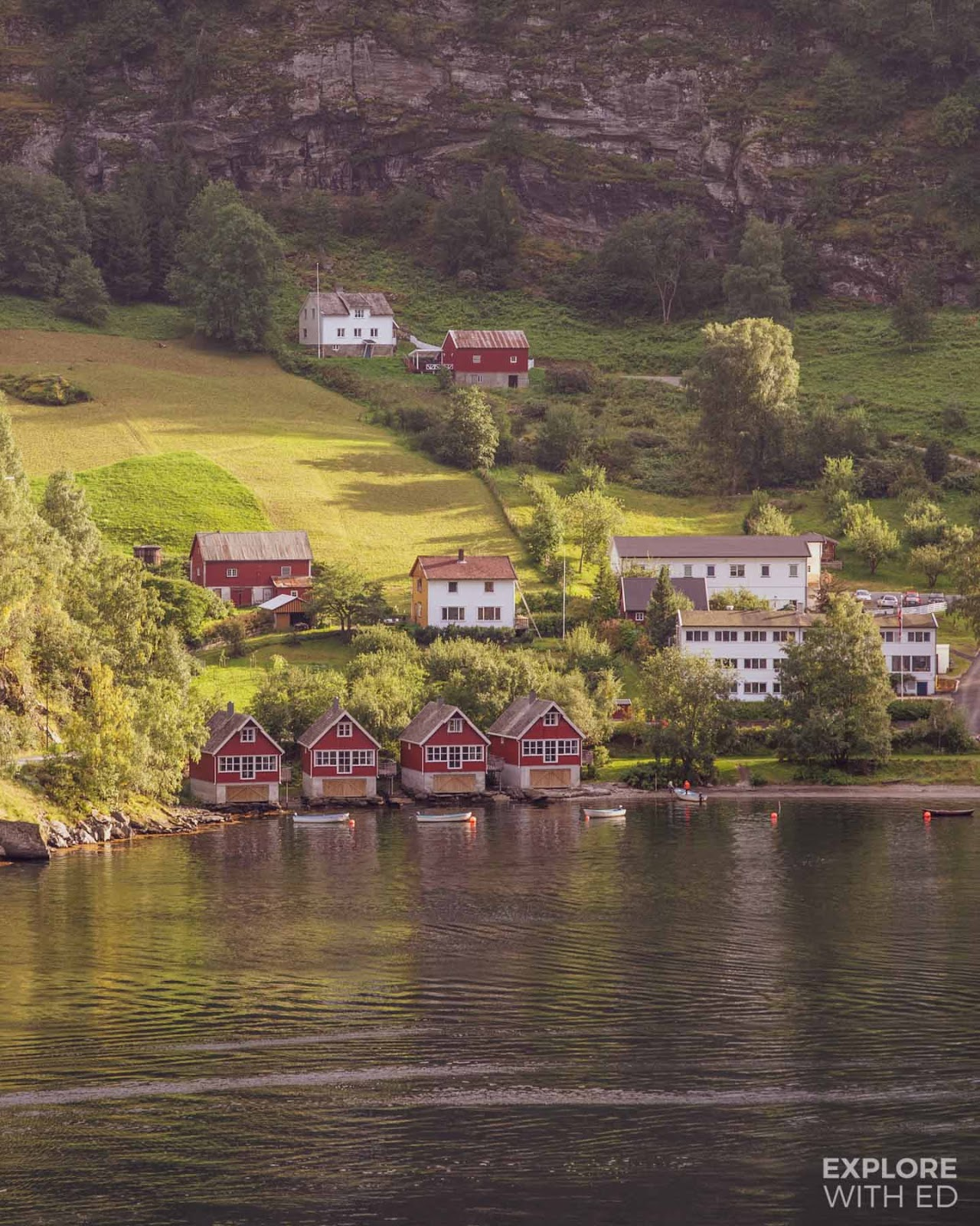 The port of Flam in Norway