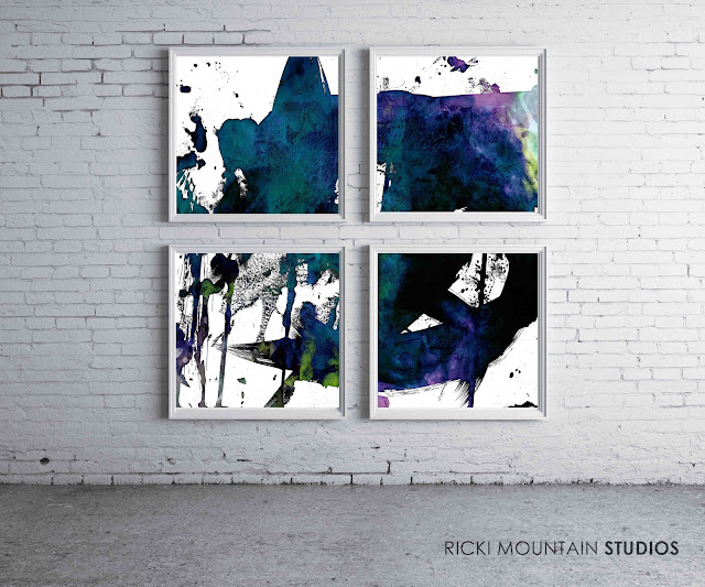 Franz Cline Inspired Abstract Art Set - Art By Ricki Mountain