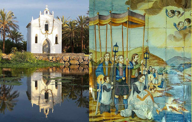 Local e mosaico do 'Milagre dos Peixes', Alboraya, Valencia, Espanha