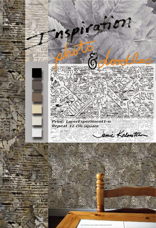Prints & Patterns aka A Pattern A Day - Art Licensing and Sales: Wallpaper Design inspired by Garden Photo and a Doodle!