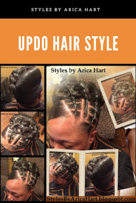 Updo hairstyle for black women