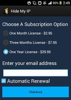 hide my ip vpn subscription option