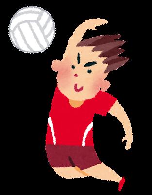 アタックをするバレーボール選手