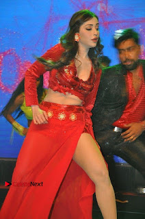 Telugu Actress Angela Krislinzki Spicy Dance Performance in Red Dress at Rogue Audio Launch 13 March 2017  0002.jpg