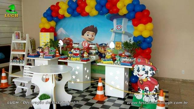 Decoração Patrulha Canina para aniversário - Provençal simples - Festa infantil - Barra - RJ