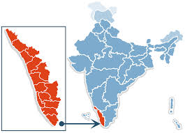 Where Kerala is located within the India Map