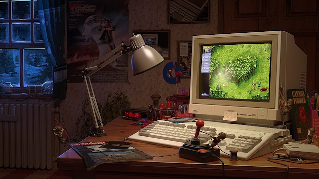 Papel de Parede Vintage PC Antigo