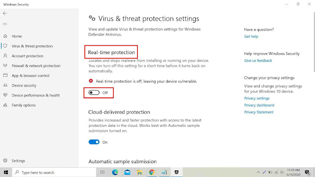 cara menonaktifkan windows defender di windows 10