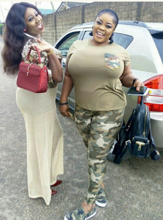 Fans Go Gaga As Actress Adediwurah Blackgold shares photos of her busty friend