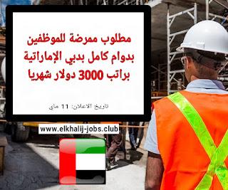 وظائف الامارات - مطلوب ممرضة للموظفين بدوام كامل براتب شهري 3000 دولار