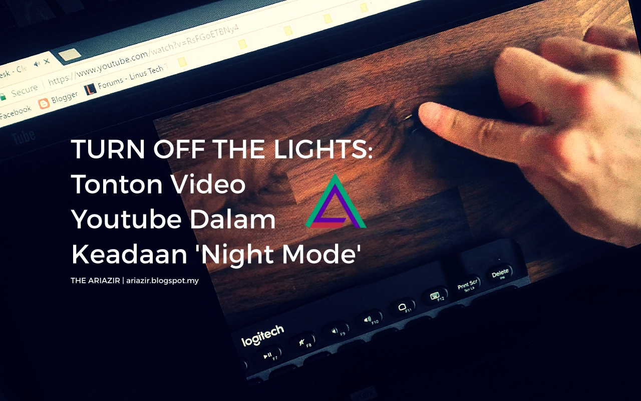 Turn Off The Lights: Tonton Video Youtube Dalam Keadaan 'Night Mode'