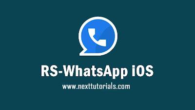 Download RS WhatsApp iOS v8.46 APK MOD Latest Version 2020,rswa ios v8.46,rswhatsapp ios v8.46,tema rs whatsapp ios dark mode, wa mod terbaru 2020,