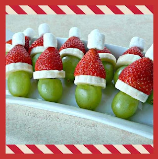 FRUIT KEBOBS FOR CHRISTMAS