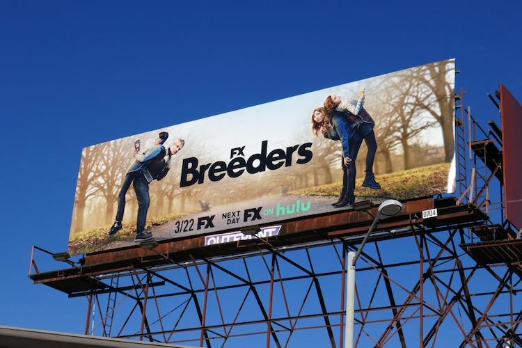 Breeders season 2 FX billboard