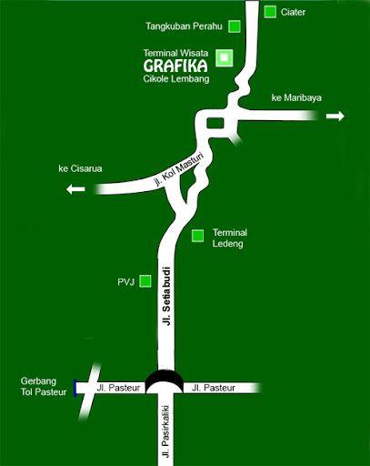 Peta Rute ke Cikole Lembang Bandung