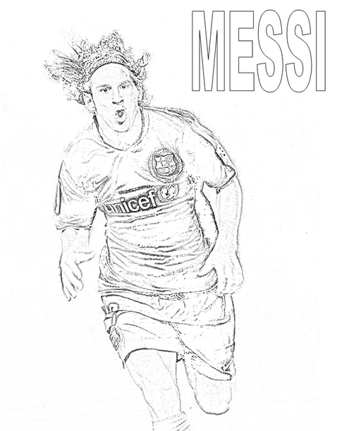 Messi Coloring Pages Lionel Messi Coloring Page Coloringcrew ... | 611x495