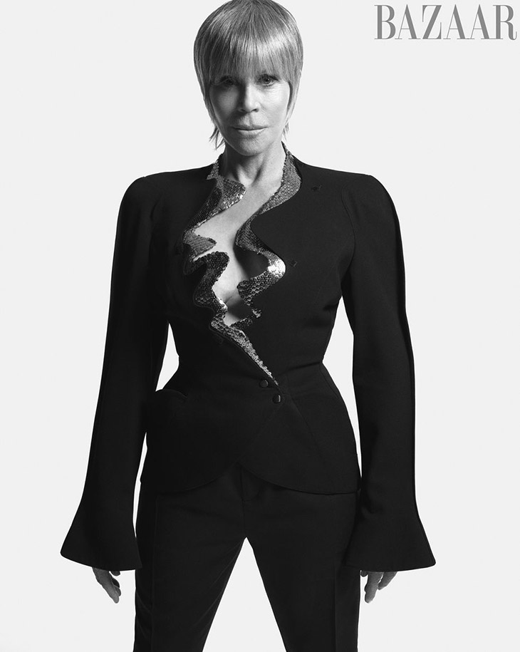 Jane Fonda poses for Harper's Bazaar April 2021