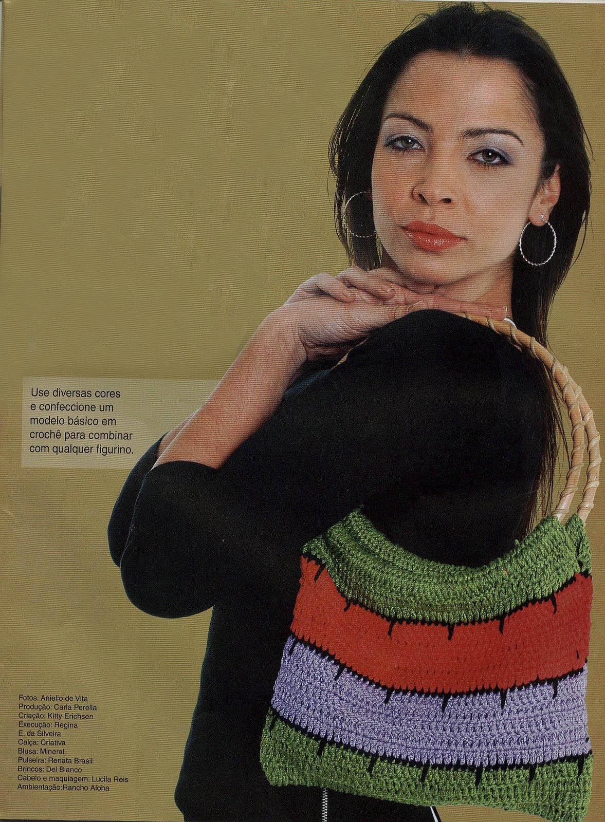 Bolsa Color de Crochet a Rayas Patron