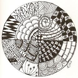 zendoodle zentangle circle zen doodle simple zentangles designs doodles
