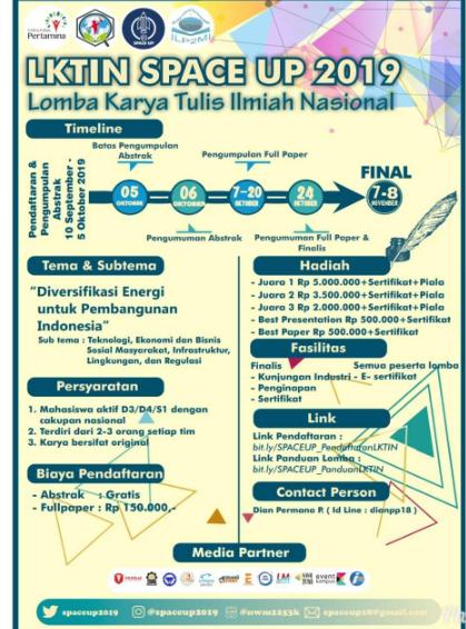 Lomba Karya Tulis Ilmiah dan Desain Poster Nasional 2019