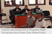 Hakim PN Sorong Vonis Bebas 3 Warga Papua Terdakwa Kasus Makar