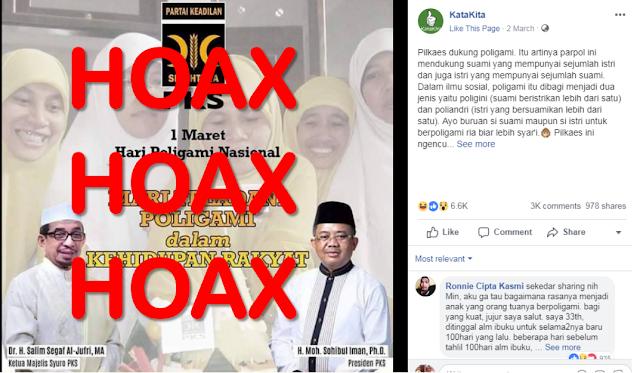 PKS Akan Pidanakan Pemilik Akun Facebook KataKita
