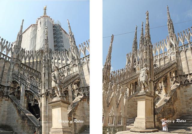 La Madonnina de la catedral de Milán y las agujas