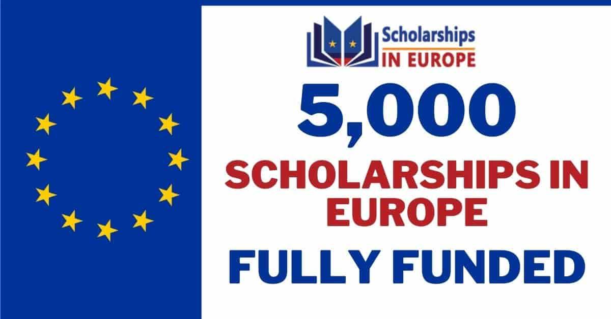 5000 منحة دراسية في أوروبا 2021 {ممولة بالكامل)