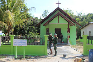 Rehab Gereja Santo Yohanes Pemandi, Jemaat Apresiasi Kerja Satgas TMMD Ketapang