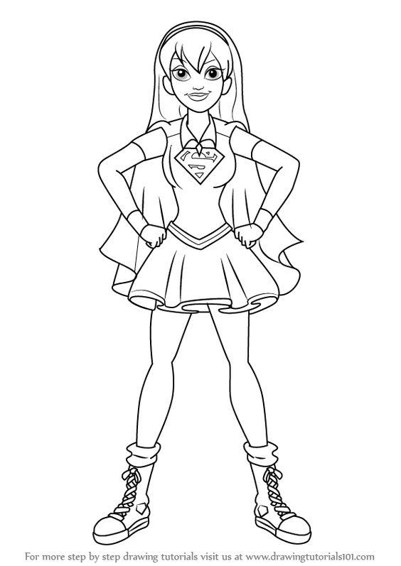 bibi leitura   desenhos para colorir dc super hero girls