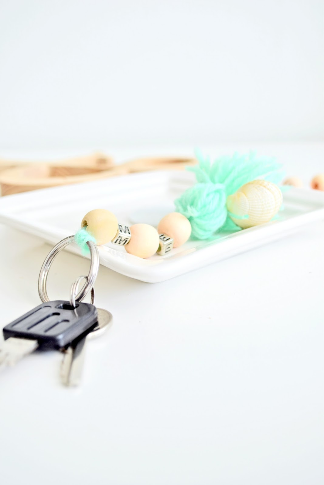 DIY wooden keychain