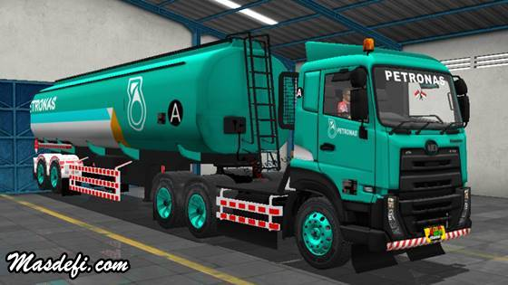 livery truck ud quester trailer tangki petronas