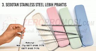 Sedotan Stainless Steel Lebih Praktis merupakan salah satu alasan penting mengapa kita harus gunakan sedotan non-plastik