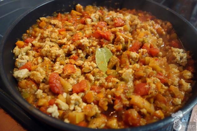 Boloñesa vegetariana con soja texturizada paso a paso