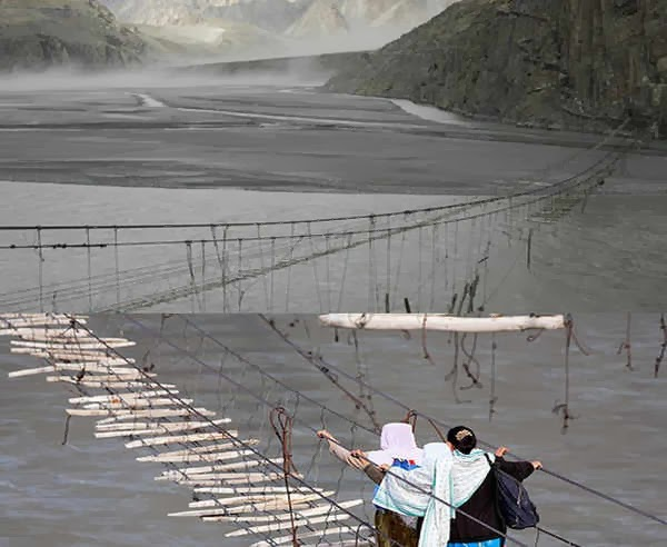 Hussaini Hanging Bridge - Pakistan