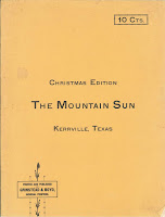 1899 Christmas Edition, Kerrville Mountain Sun