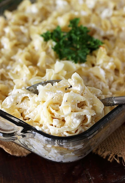 Creamy Baked Noodles in Baking Dish Image