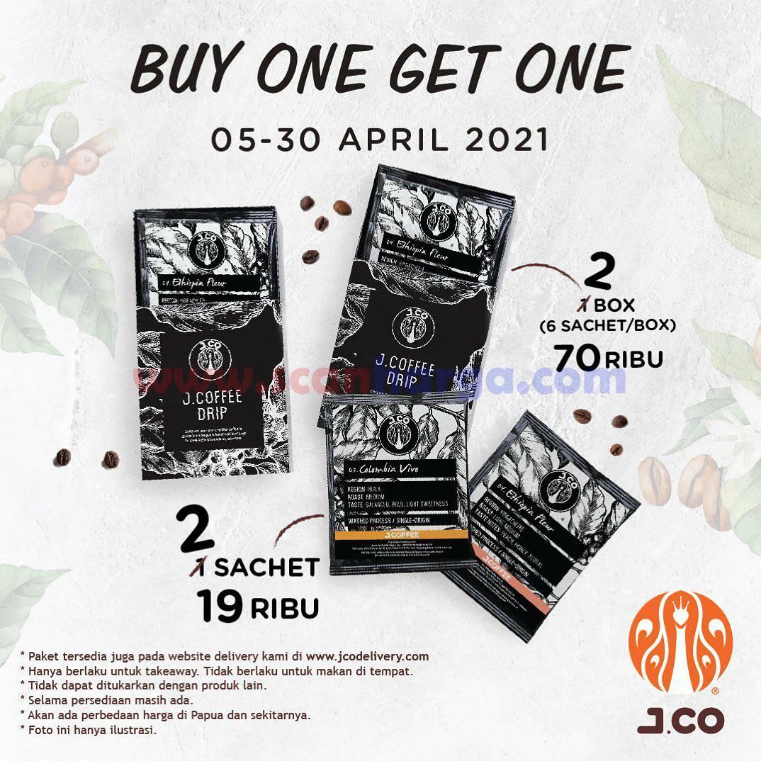 JCO Promo BELI 1 GRATIS 1 untuk pembelian JCOFFEE DRIP