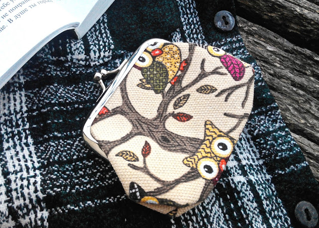 Ladies Lovely Cartoon Owl Buckle Purse
