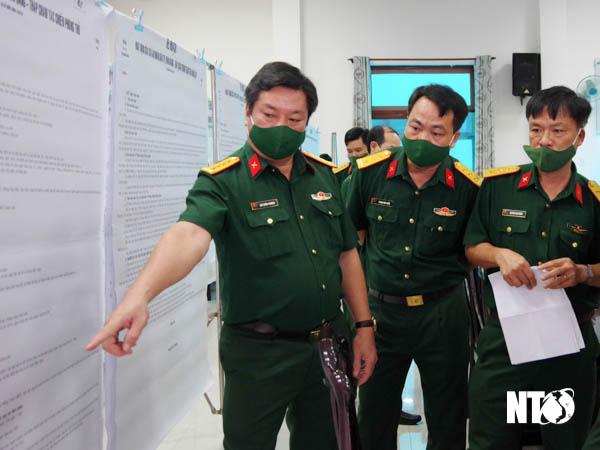 Bộ Chỉ huy Quân sự tỉnh kiểm tra công tác chuẩn bị diễn tập khu vực phòng thủ tại Tp. Phan Rang – Tháp Chàm