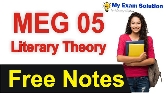 literary theory, meg 05, meg literary theory notes, literary theory and criticism notes,