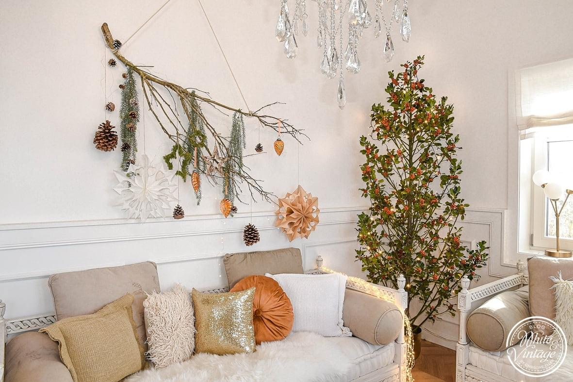 Wanddeko für Weihnachten basteln