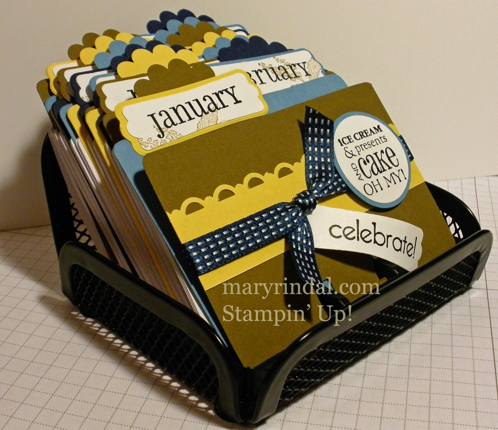 rolodex, birthday calendar