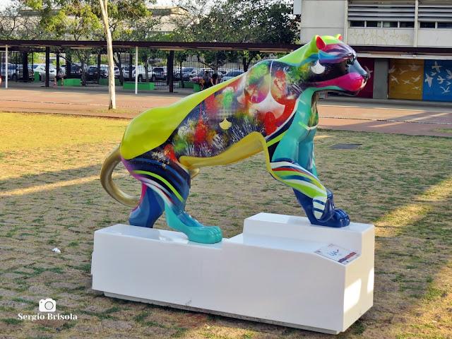Close-up da Escultura Filho da Lua - Parque da Juventude - Santana/Carandiru - São Paulo