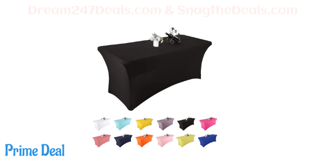 40% OFF  Yetomey Spandex Table Cover Rectangular Stretch Tablecloth,for DJ,Tradeshows,Vendors,Weddings