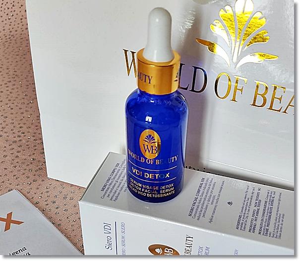 beauty routine detossinante World of beauty siero vdi detox