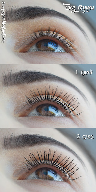 Eveline Cosmetics Big Volume Real Shock Mascara Black Review & Swatches Before After