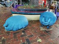 Canberra Public Art   Dickson Blue Sheep Sculpture