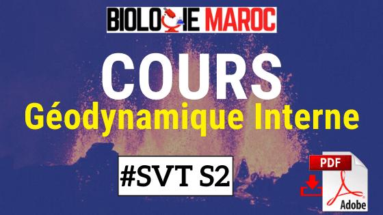 Cours de Géodynamique Interne SVT S2 PDF à Télécharger